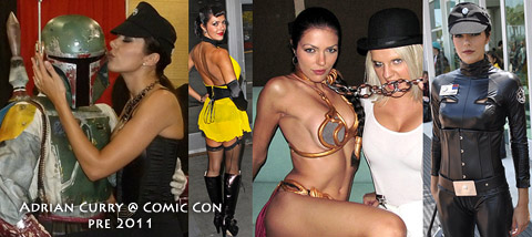 Aarkeybabble : Adrianne Curry ComicCon outfits = epic geek win.