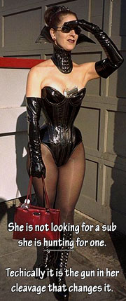 Aarkeybabble : A well corsetted mistress on the hunt - how hot is that!