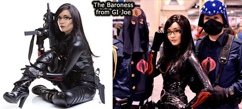 Aarkeybabble : The Baroness... super hot, corset, PVC. heels, guns and Glasses. No wonder she's in command.