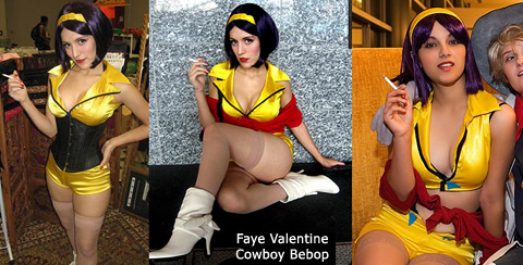 Aarkeybabble : Faye Valentine is like Holly Golightly, only she's a bounty hunter in space, with a gun. And that's geek hot.