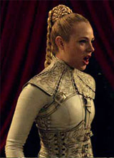 Aarkeybabble : Jessica Marais finally returns at the leather clad dominatrix known as Mistress Denna
