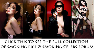 Aarkeybabble : Dita might just smoke for the pose, but it's a damned fine pose!