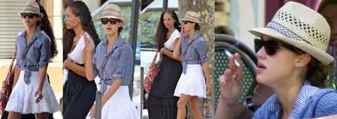 Aarkeybabble : Jessica Alba always smoking hot - and now smoking cigarettes too!
