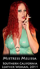 Aarkeybabble : Mistress Melissa - smoking hot in LA, the perfect little finger hold... just yummy!