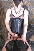 Aarkeybabble : Ms.Marie - a lovely lifestyle domme who clearly loves to use a strapon.