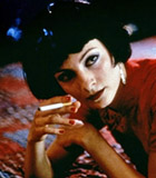 Aarkeybabble : Najwa Nimri in 1997's Abre Los Ojos - another smoking beauty in a page boy hair style.