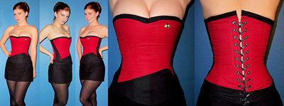 Aarkeybabble : Custom Corsetry - Star Trek inspired lacing = yum!