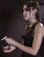 Aarkeybabble : Sasha Grey is smoking hot as a smoking domme