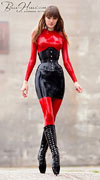 Aarkeybabble : Alexandra Potter, looking lovely in her ballet boots, corset & head to toe latex!