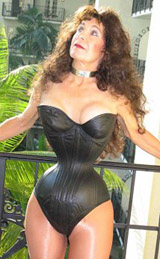 Aarkeybabble : Cathie Jung - tight-laced in her corset down to just 15 inches