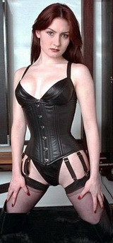 Aarkeybabble : Corset Girl would make a pretty good super hero, or mistress, or just a fetish model for that matter.