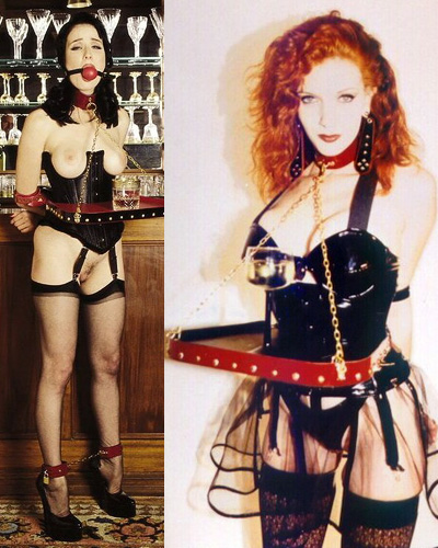 Aarkeybabble : corsetted and bound serving maids - hrmmmm