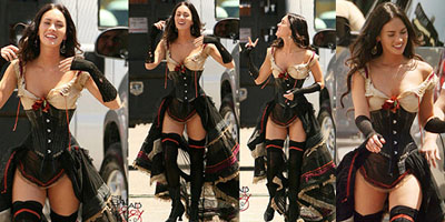 Aarkeybabble : Megan Fox in a tight corset is well... kinda like the holy grail