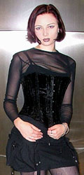 Aarkey babble : corset wearing goth girl