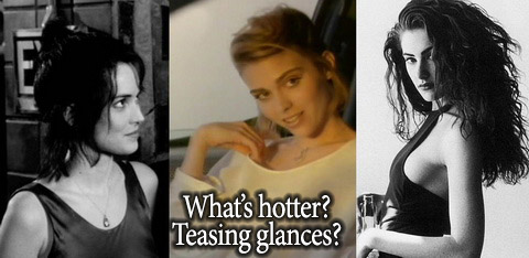Aarkeybabble : What's hotter - glances or glares?