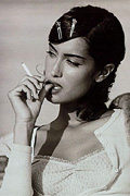 Aarkeybabble : Yasmeen Ghauri - smoking hot supermodel